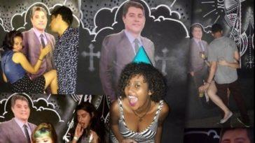 Fã avisou Evaristo sobre a presença do totem em tamanho real na festa (Foto:  Divulgação/ Facebook)