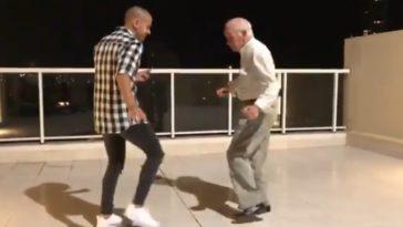 avô dança com bailarino