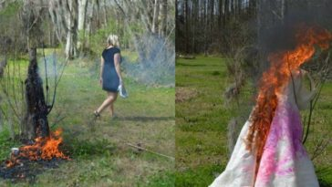 noiva traida queima vestido