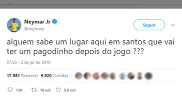 neymar tweet