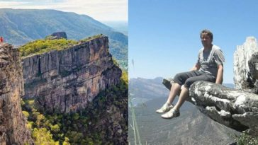 Turista-morte penhasco Austrália