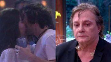 BBB 21-beijo Fiuk Thaís Fábio Jr