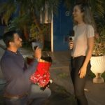 repórter pedida em casamento